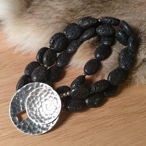 Silpada lava rock sterling bracelet